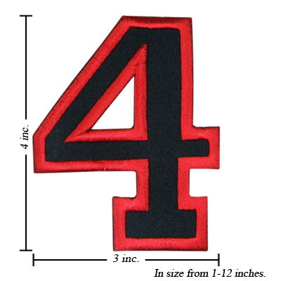 ... NUMBER outlaw biker style embroidered patches; Wizard Patch Embroidery  professionals, choose from over 25 stock fonts all professionally  digitized, or ...