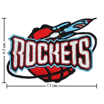 Houston Rockets Basketball Logo Patch sport Embroidery iron,sew on Fabric