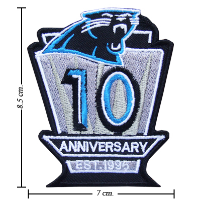 new product 7c882 e649e Carolina Panthers Anniversary Style-1 Embroidered Iron On Patch