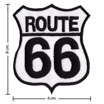 Route 66 Symbol Style 1 Embroidered Iron On Patch